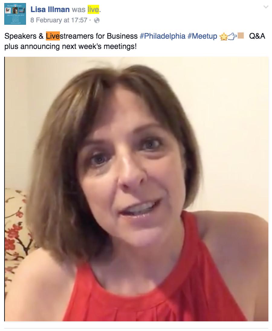 Lisa Illman Facebook Live Stream - Facebook Mentions
