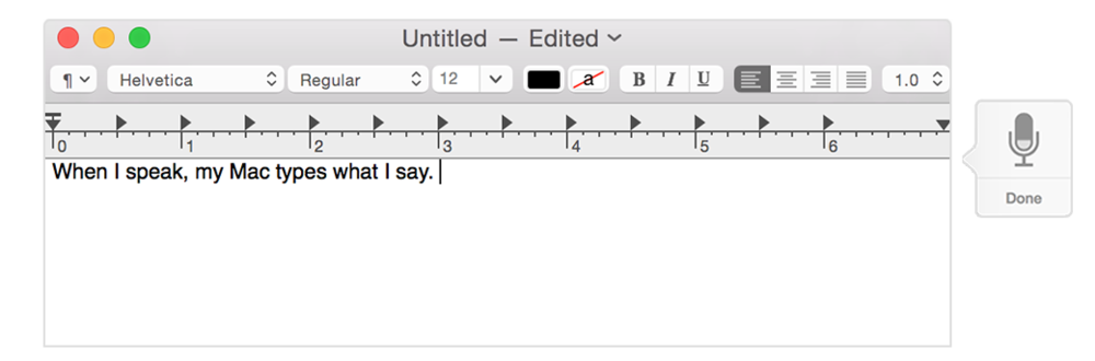 Dictation on OS X Yosemite