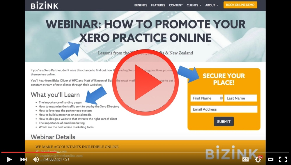 If you're a Xero Partner, this webinar recording will show you how the leading Xero accounting practices promote themselves online.