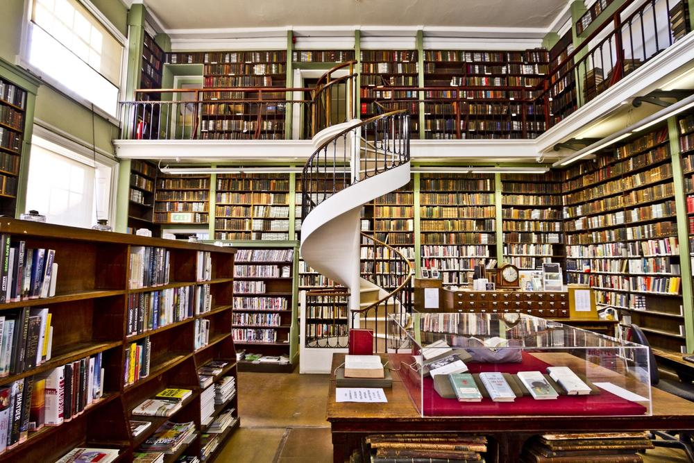 If you can afford the £120 annual subscription, you can get plenty of work done at  The Leeds Library  in Yorkshire, England, a private subscription library. Photograph courtesy  Michael D. Bekwith .