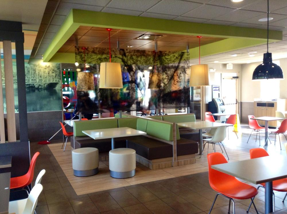The interior of a McDonald's in Avon, Connecticut. Photo courtesy  Mike Mozart .
