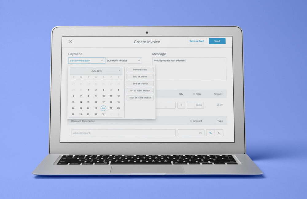Now you can schedule Square invoices for the future.