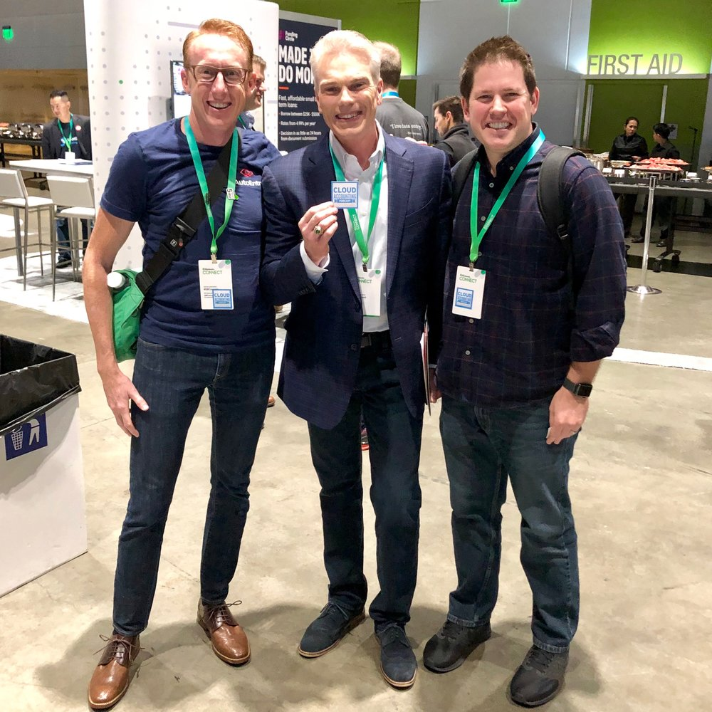 Blake & David with Brad Smith, CEO of Intuit