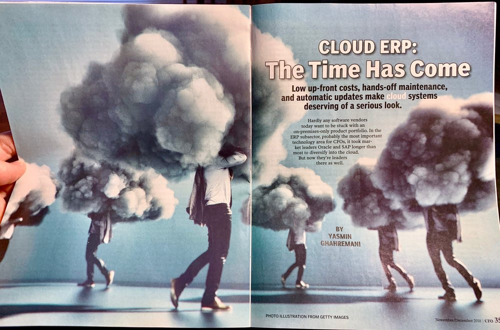 An unfortunate choice of stock photography to represent cloud computing in the Nov/Dec issue of CFO Magazine