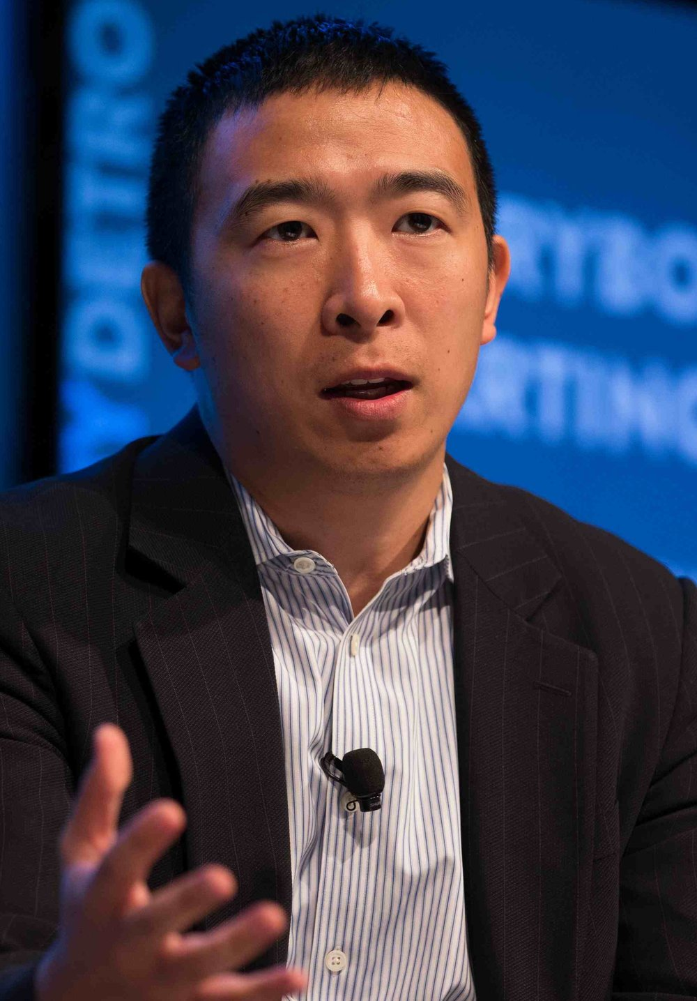 Andrew Yang, 2020 presidential candidate. Photo by    Asa Mathat    for Techonomy.