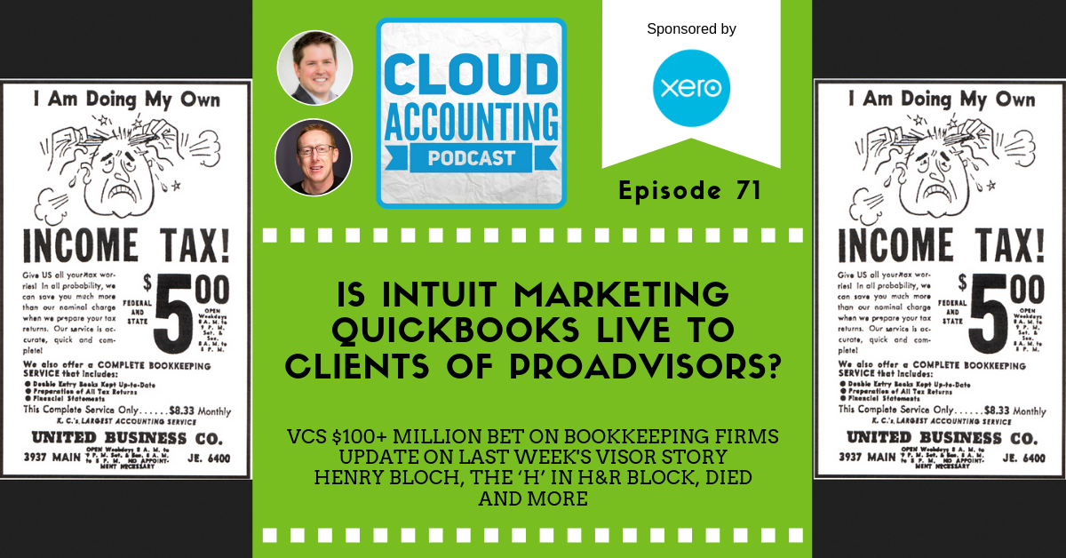 Is Intuit marketing QuickBooks with Live Bookkeeping to clients of