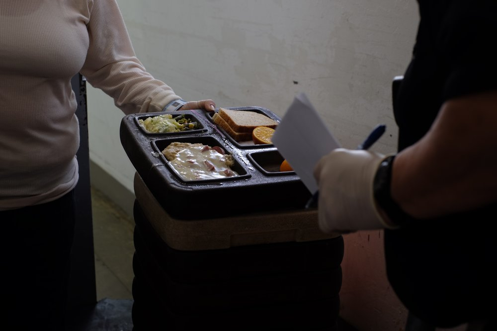 Lunch on Christmas Day. It was business as usual despite the holiday. The inmates stated that they don't get enough food and the food they get is terrible. Visitation is four days a week: Saturday, Sunday, Monday, and Tuesday. There was no additional visitation on Christmas.