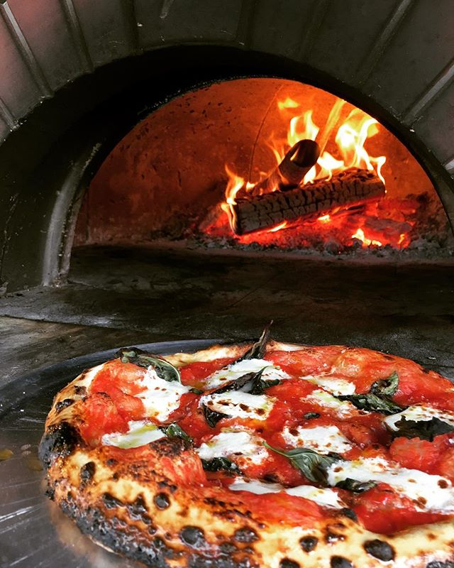 Classic. Standby. Baseline. Simple. . . . #woodfiredpizza #eatiowacity #42dodge #margheritapizza #cookoutside