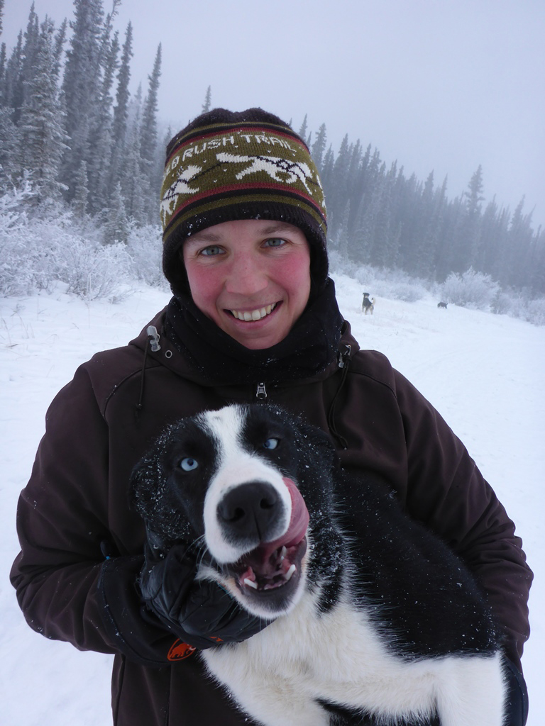 Eight years ago my partner Fabian and I came to Canada to work as dog sled guides for a tour operator in BC. When we moved to Whitehorse the following spring, we started our own kennel (Fox Creek Kennel). We currently have 29 dogs including 8 pups and live and train near Fox Lake.