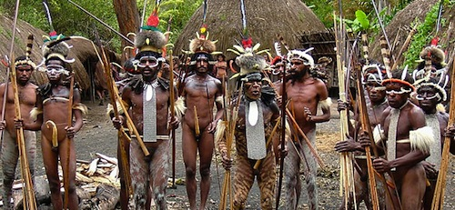 Picture of Dani tribesmen papua-adventures.com