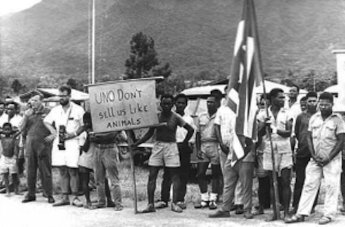 Some West Papuans Protesting to the UN freewestpapua.org