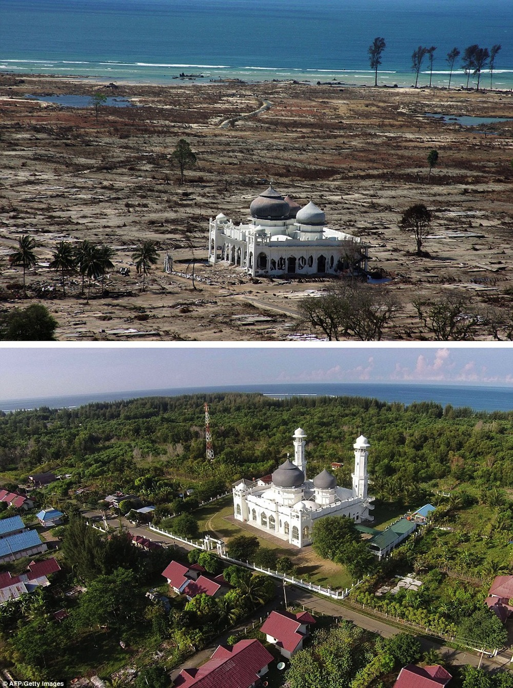 10 Amazing Before and After Shots Of The 2004 Tsunami in ...