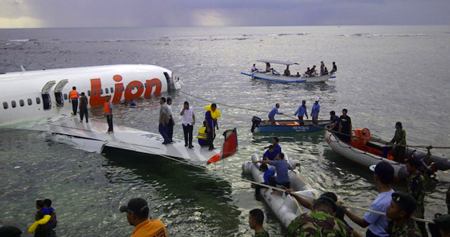 The famed Lion Air crash in Bali, Image source: nydailynews.com