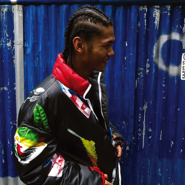 Another shot of the jacket, from Hartono's Look Book