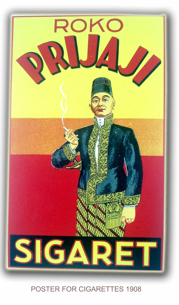 "Old cigarette pack, ""prijaji"" means ""nobility"". Source: www.trilsky.wordpress.com"