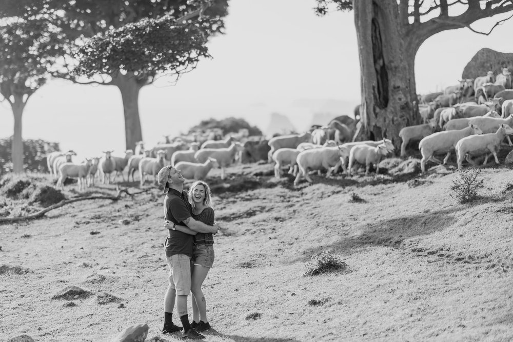 Me and my husband laughing at the sheep.  Photo: Rambo Estrada