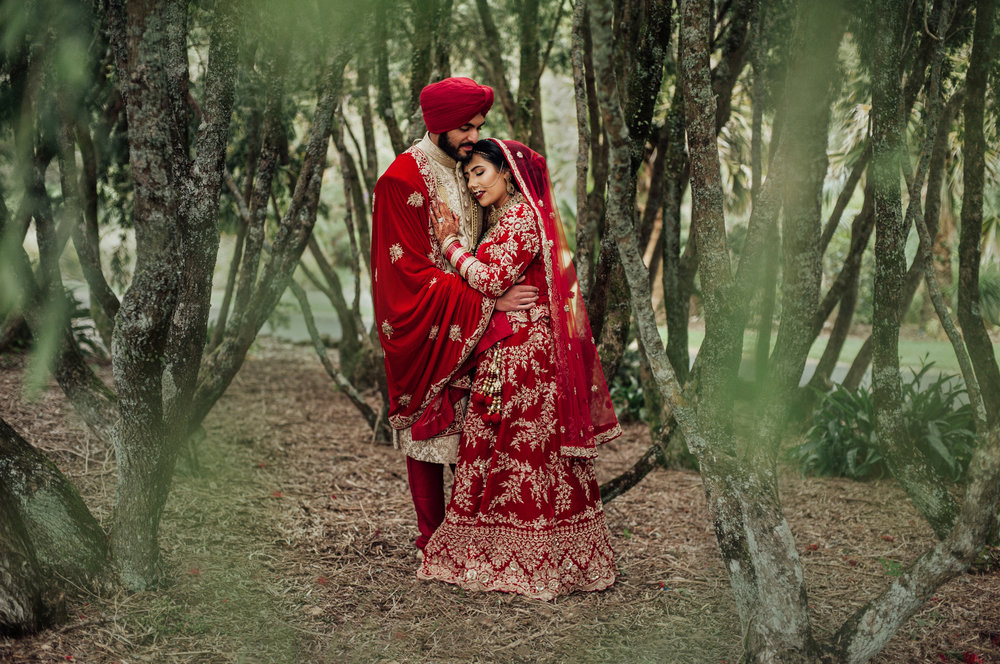 Wedding photography forest Indian wedding