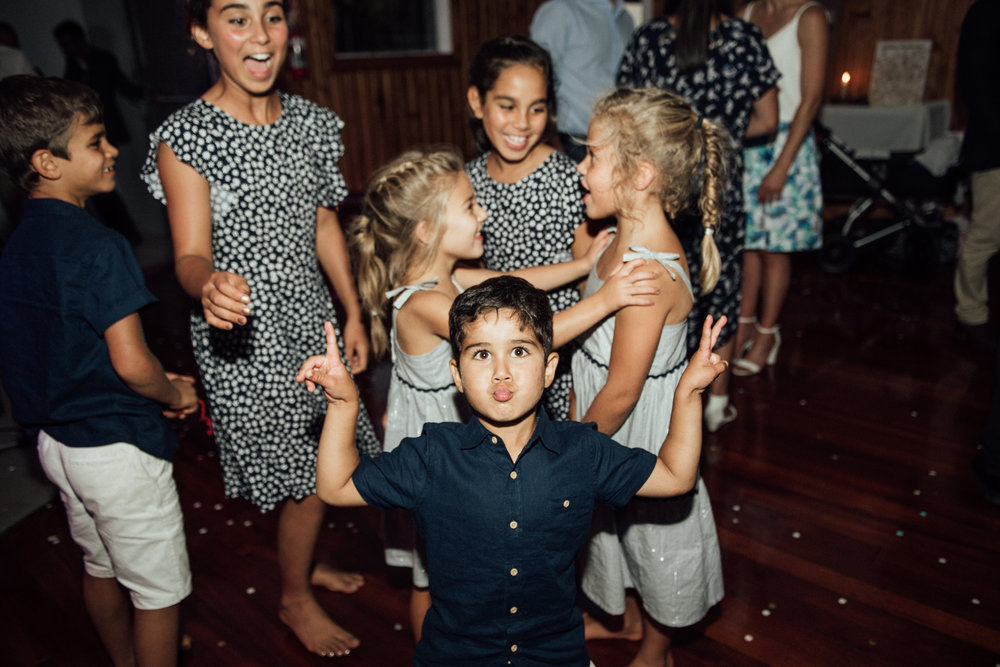 Wedding photography Waikato kids moments night dance floor
