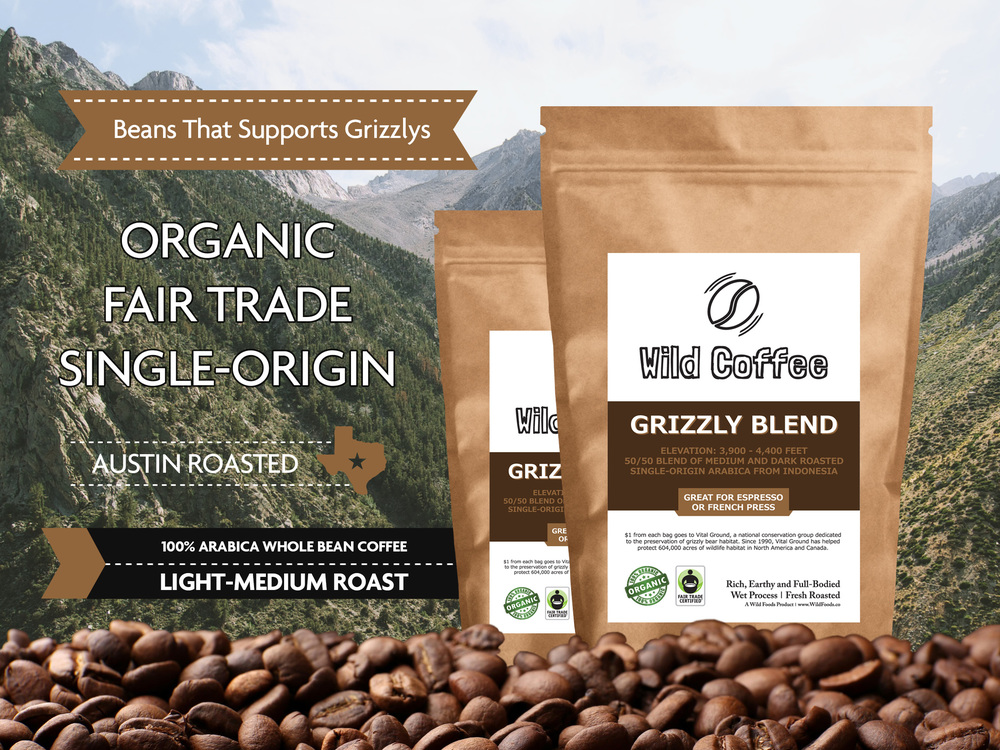 Wild Coffee Organic Grizzly Blend Wild Coffee