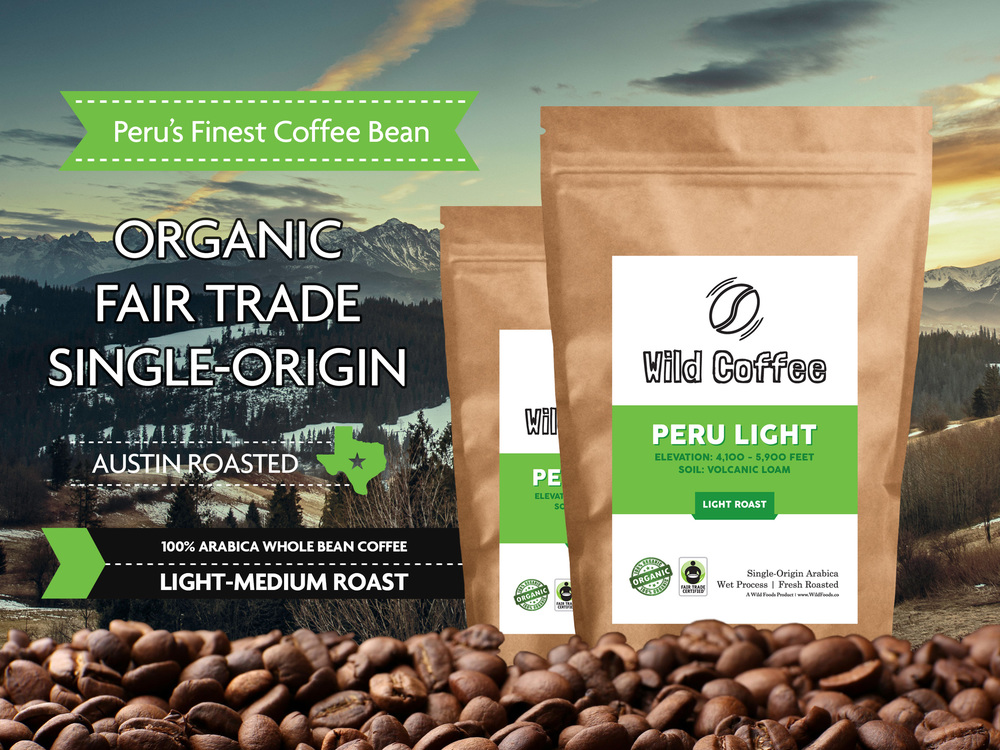 Peru organic coffee beans wild coffee beans