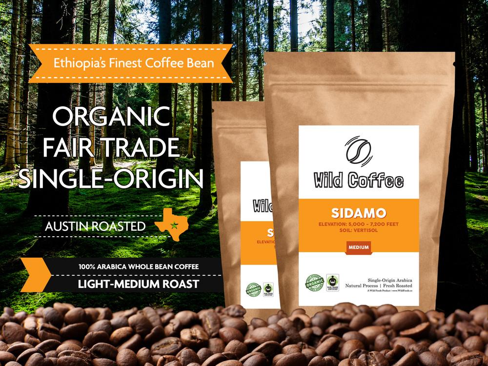 organic sidamo coffee beans