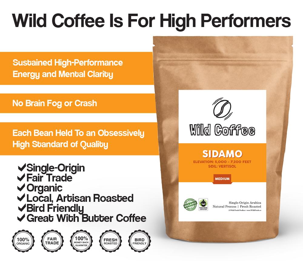 wild sidamo coffee beans