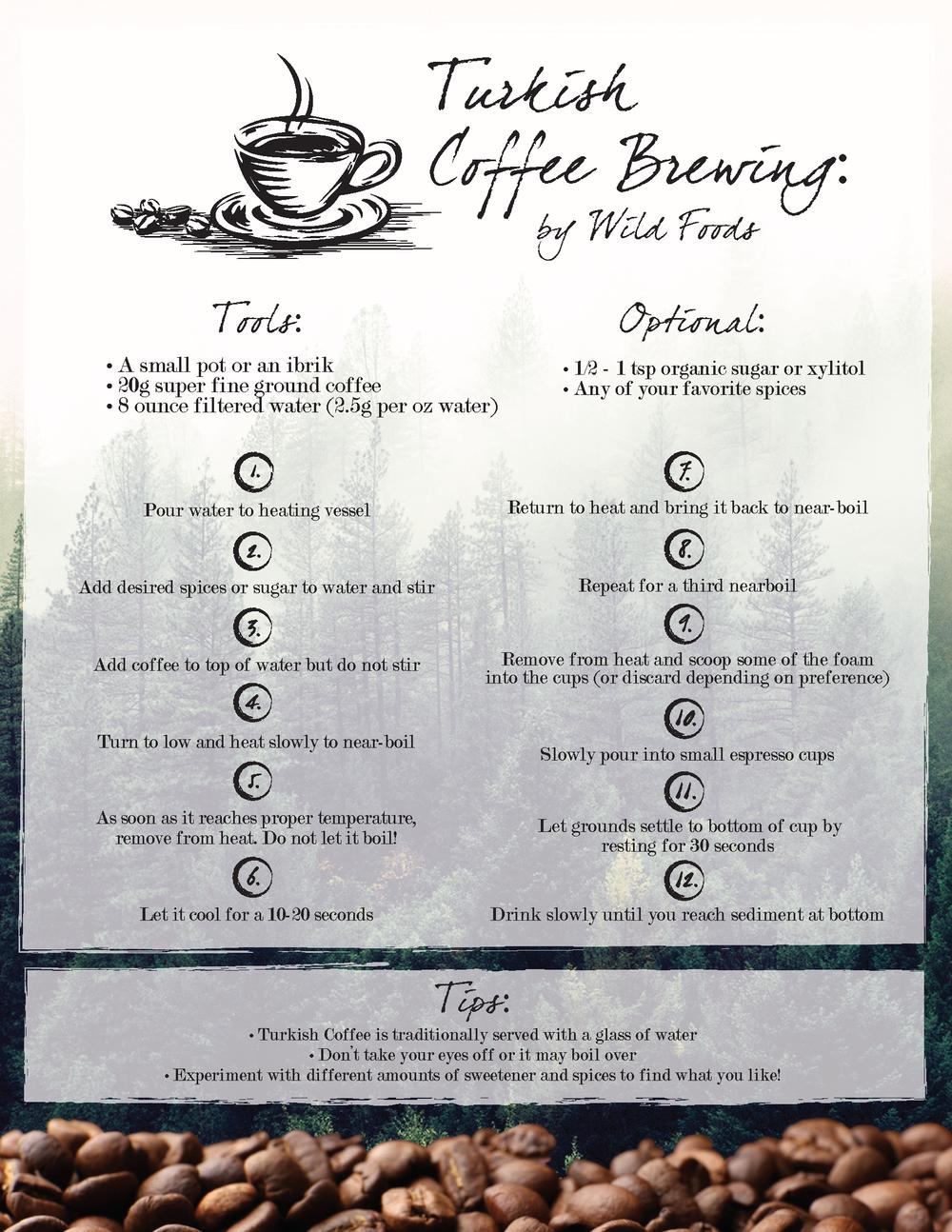 Brewing Turkish Coffee