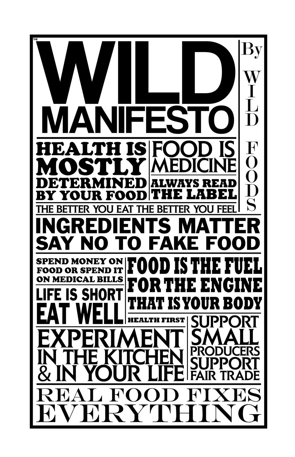 the wild manifesto poster