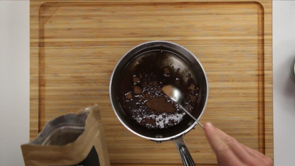 add two TBSP cocoa powder