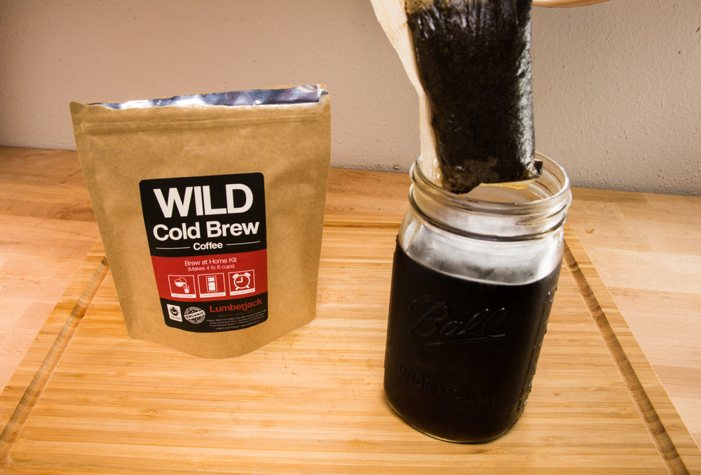 remove the cold brew pouch