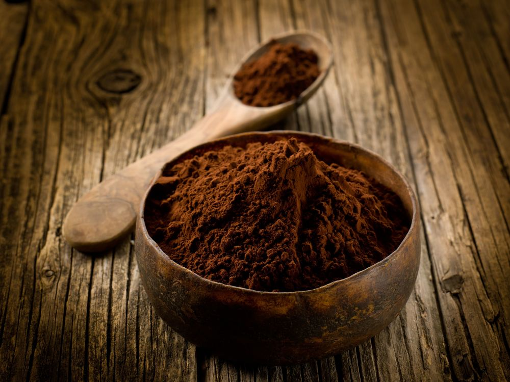 super dark chocolate powder