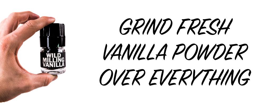 Organic Milling Vanilla Powder