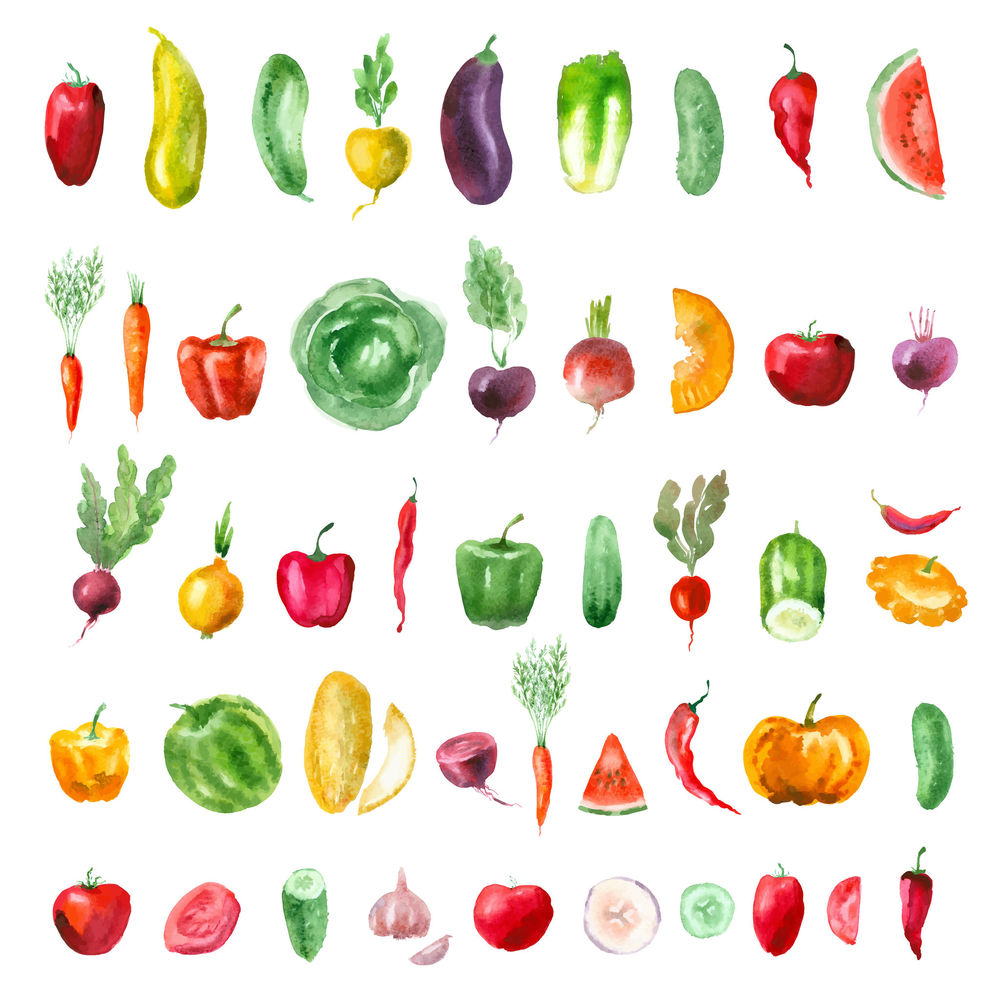 eat colorful and seasonal foods
