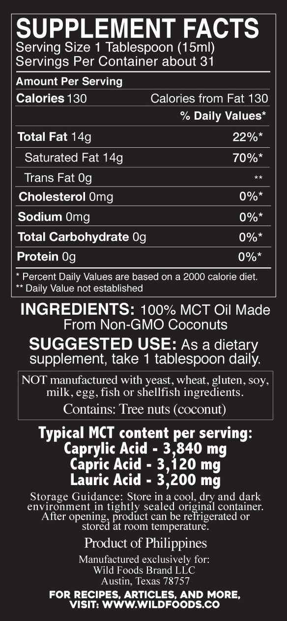 mct oil nutrition facts
