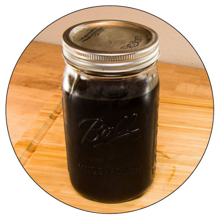 finished delicious cold brew coffee