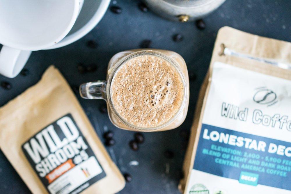 creamy mushroom coffee decaf
