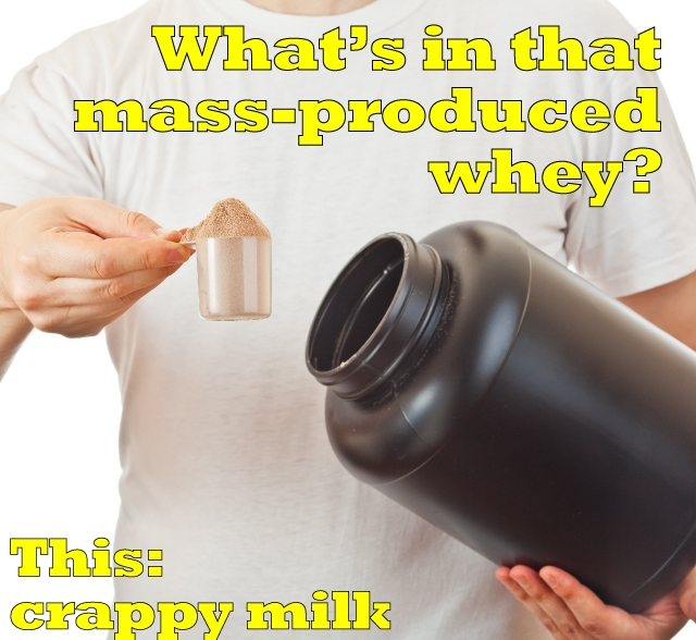 what's in mass-produced whey