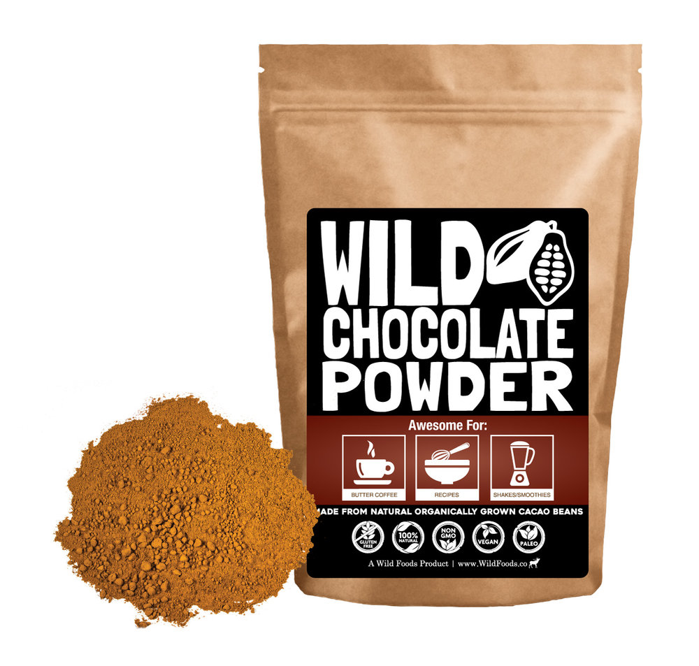 Wild Cocoa 8oz $10.95 - Wild Chocolate powder is a non-alkalized cocoa powder that is grown and processed using hand-crafted artisan techniques without the use of chemicals, solvents or harsh high-heat processes.