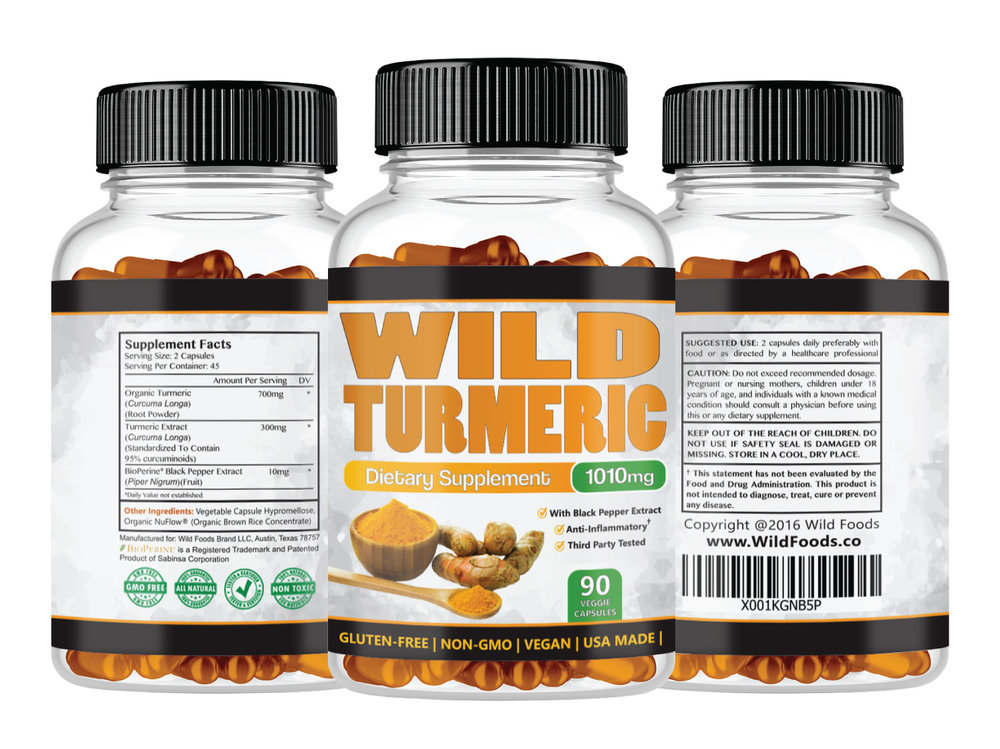 Turmeric Caps17.95 - Wild Turmeric Extract contains heavily researched curcumin, which is thought to have anti-inflammatory effects in the body, aiding in joint pain, improved digestion and circulation, and overall nervous system improvement and immune function.