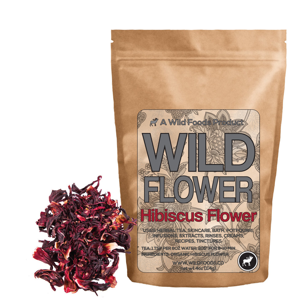 Wild Flower 4 Hibiscus Flowers Whole Hibiscus By Wild Foods