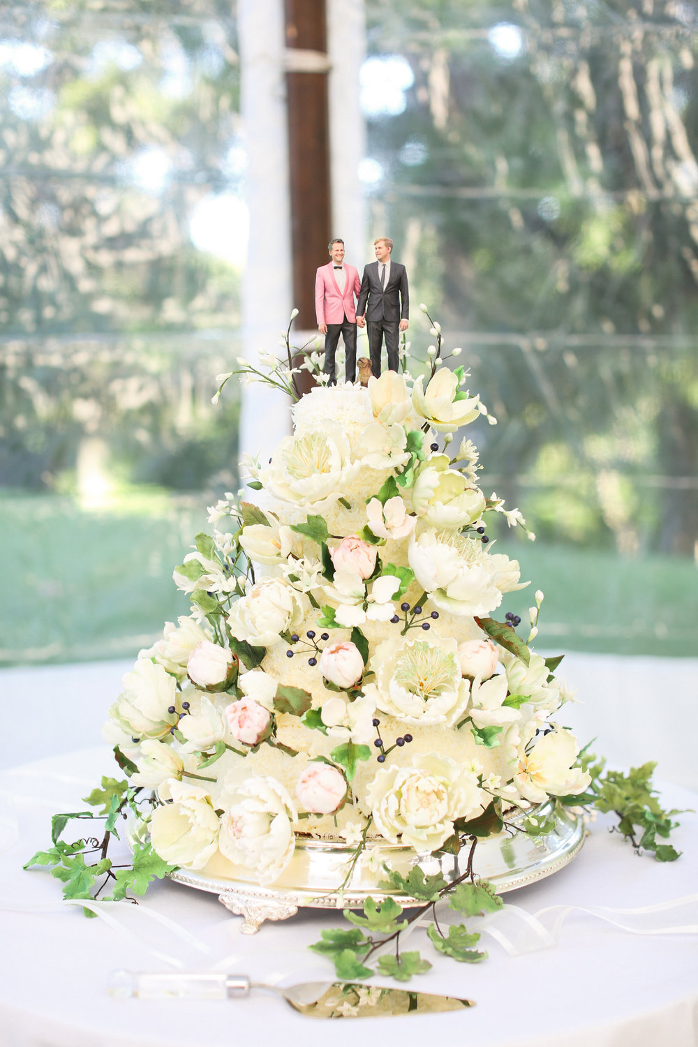 Hall + Michael Wedding Cake