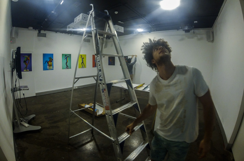 anthony-af-jones-exhibition-preparation