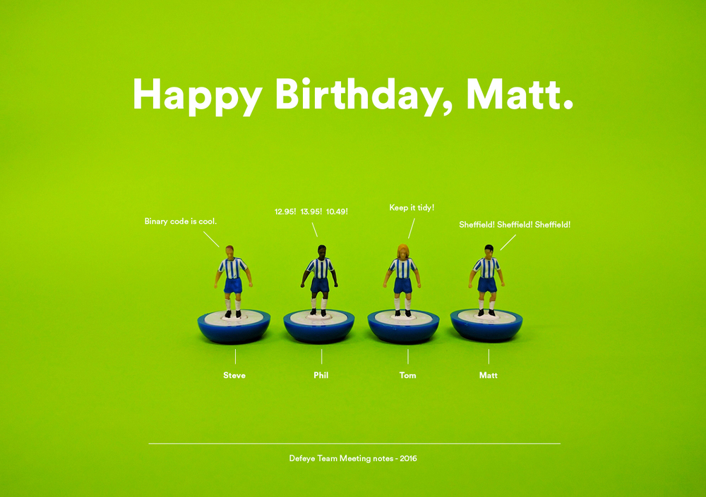 Defeye Creative - Happy Birthday Matt