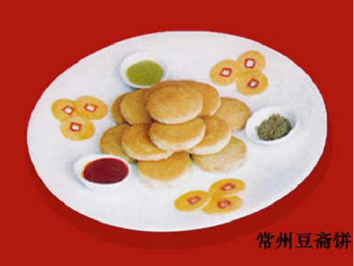 Changzhou Douzhai Cake: This is a unique specialty of Changzhou. This dish has a long history, and people can eat it with ketchup, mustard, curry paste and/or sesame sauce according to their preferences.