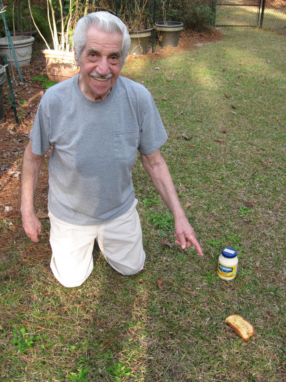 Grandpa Leonard in Valdosta Georgia...