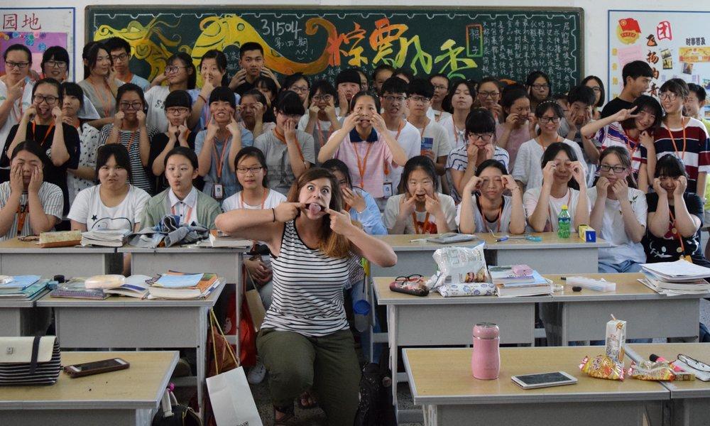 In Changzhou with my students; Jilli Leonard