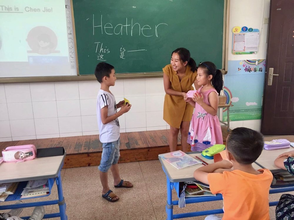 Heather teaching introductions to her Grade 3 students