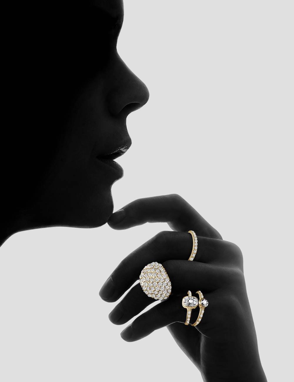 Gold Jewellery Silhouette Creative Still Life Photography Golden Expensive Jewelry Rings