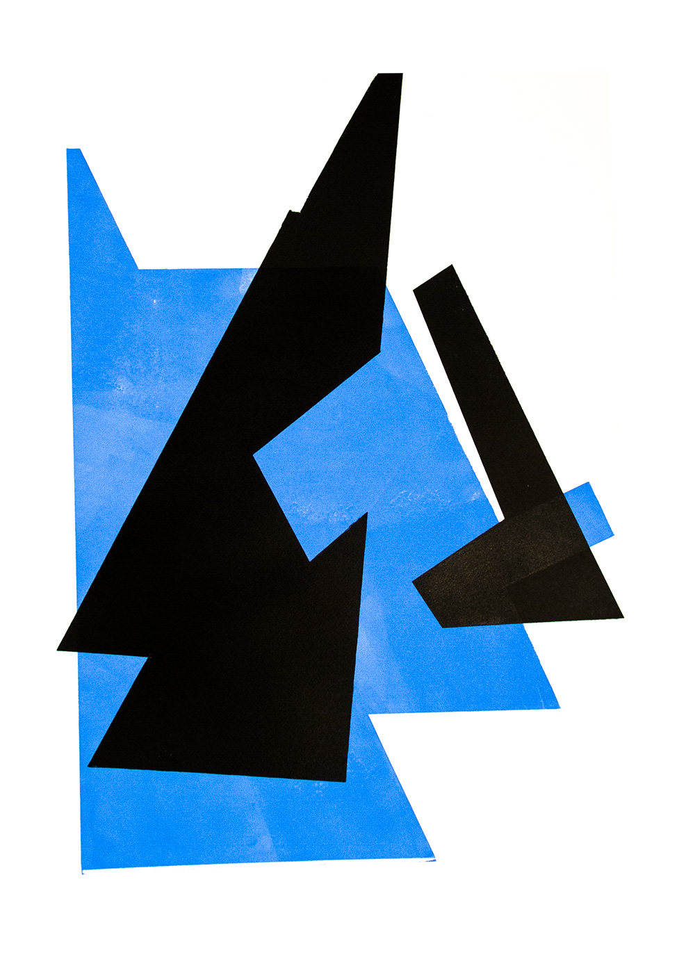 Untitled, 2014, Relief print on paper, 75 cm × 55 cm