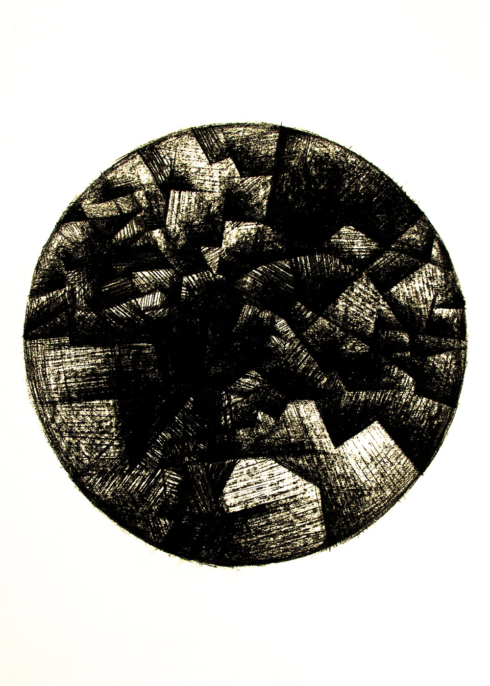 Untitled, 2014, Charcoal on paper, 75 cm × 55 cm